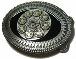 Gun Chamber Barrel Belt Buckle + display stand. Code JA2